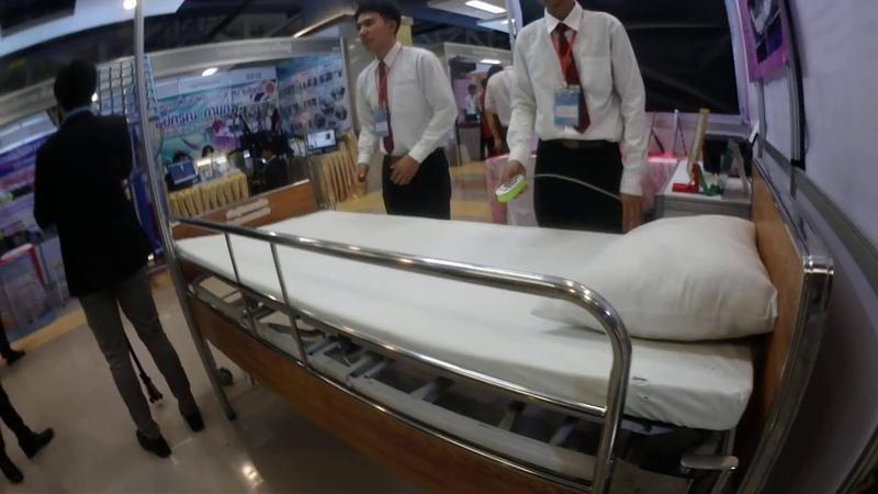 เตียงผู้ป่วยแบบลดแผลกดทับด้านข้าง จำห