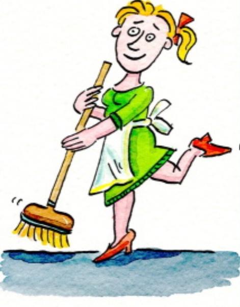 Картинка уборщица в детском саду