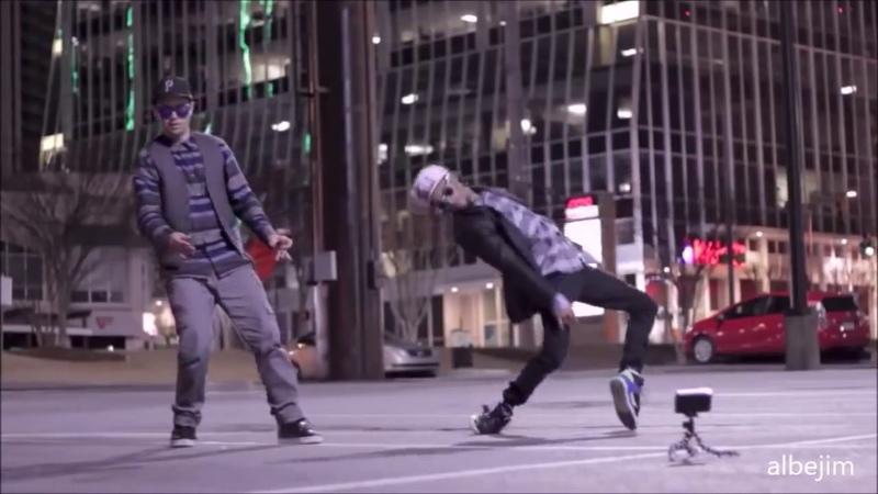 Men Whitout Hats Safety Dance Remix Robot Dance Vs Break Dance