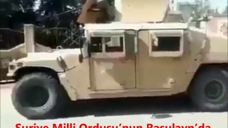 SURİYE MİLLİ ORDUSUNUN; RASULAYNDA YPG/PYD'LİLERDEN ALDIKLARI ABD ZIRHLILARI