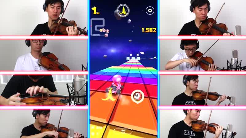 [RUS SUB] Classical Musicians Recreate Mario Kart Rainbow Road on the Violin