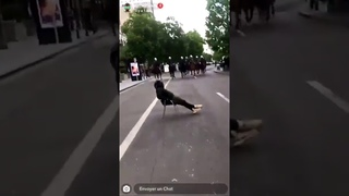 ANGRY Brussels Police Chasing Black Lives Protesters on Horseback. Belgium. 07/06/2020