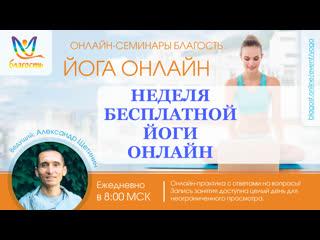 Оздоровление позвоночника, Йога онлайн Благость, Александр Щетинин