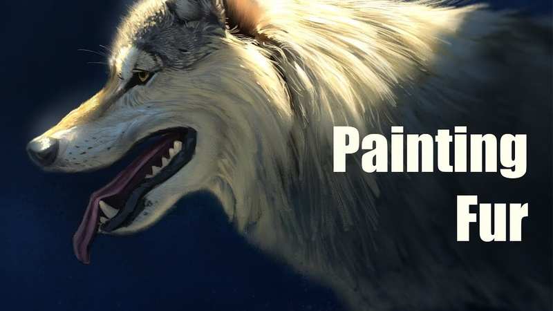 How to Paint Fur - Photoshop - Wolf Portrait