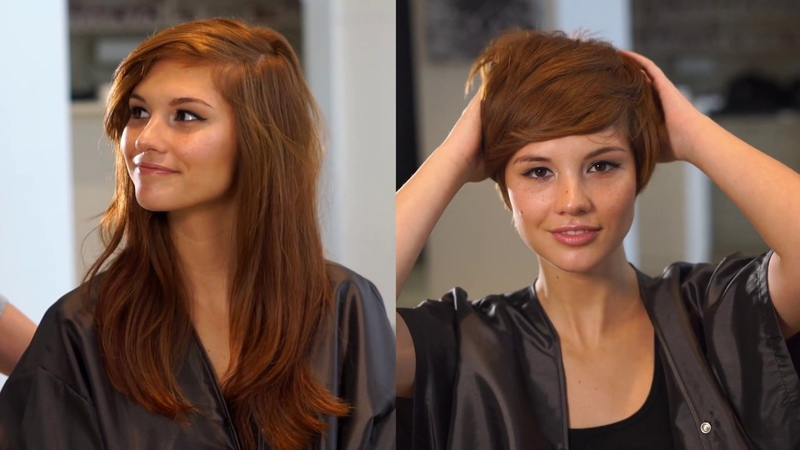 Dramatic Pixie Haircut Transformation with Emily Anderson Fromm Pro