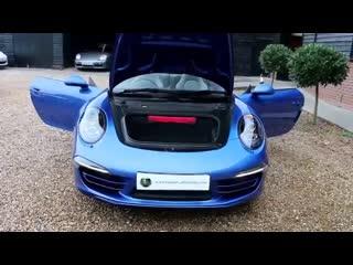 Porsche targa 4 s pdk automatic in metallic sapphire blue with black and platinu