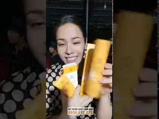 B i siu phm Serum saffron v Kem saffron ca M phm Nht Kim Anh
