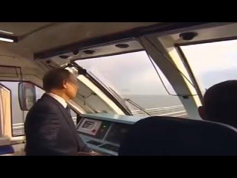 Putin asiste a la ceremonia de la apertura al tráfico del ferrocarril del puente de Crimea