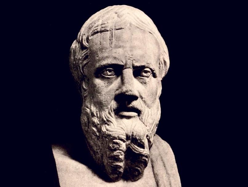 Геродот, древнегреческий историк, названный Цицероном «отцом истории» (иллюстрация из издания: Hekler A. Greek & Roman Portraits. New York, 1912. P. 16).