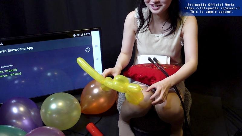 風船フェチ 女性の風船遊び:口膨らまし、バルーンアート等 心 38899