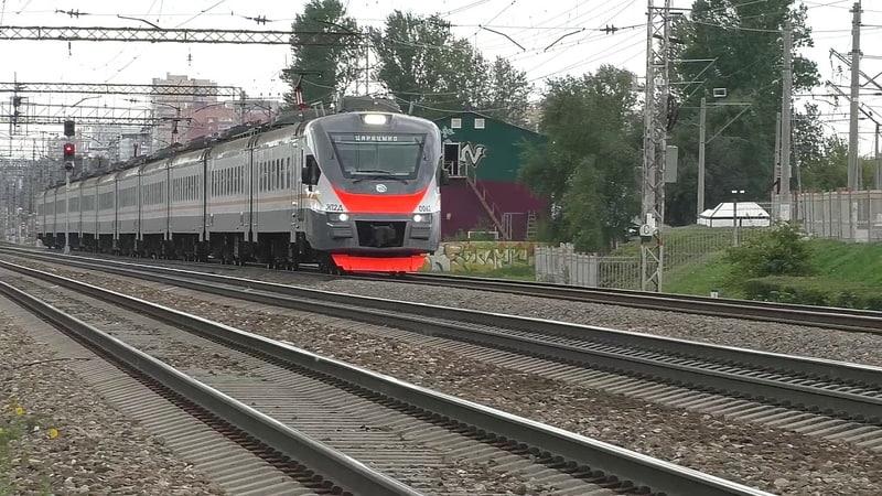 Электропоезд ЭП2Д 0062 ЦППК ТЧ 17 пригородный поезд № 6210 Львовская Царицыно
