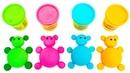 Разноцветные мишки из плей до Маша и Медведь Три кота Смешарики Учим цвета с героями из мультиков