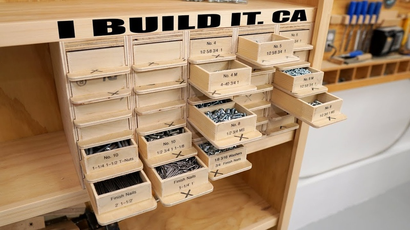 Making This Screw Organizer - 30 Drawers 120 Compartments