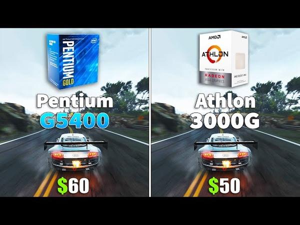 Athlon 3000G vs Pentium G5400 CPU and iGPU Test