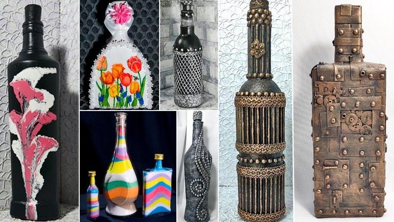 13 идей декора бутылок Декор своими руками