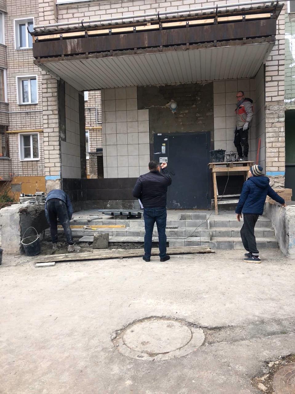 Улица Московская дом 165 ремонт входной группы