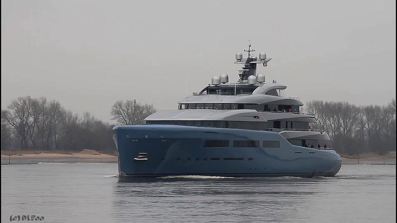 Mega Yacht AVIVA   Weser Höhe Brake Unterweser