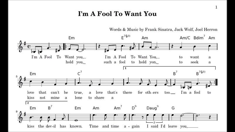 I'm A Fool To Want You Frank Sinatra Jack Wolf Joel Herron