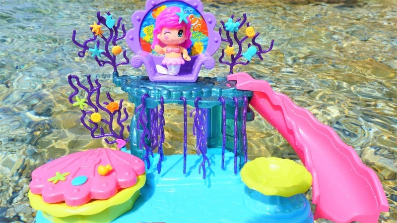 Pinypon deniz kızı ülkesi oyun seti Havuz ve deniz oyunu Pinypon dönüşüm videosu