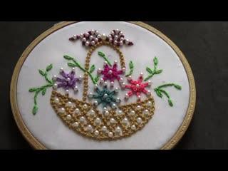 Познакомим вас с bead stitch. это замечательный рельефный стежок, которым можно выполнять как отдельные узелки, так и контурные
