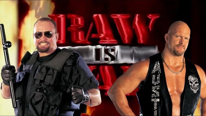 WWE 2K20 Big Boss Man vs Stone Cold Raw Is War '99 Steel Cage Match