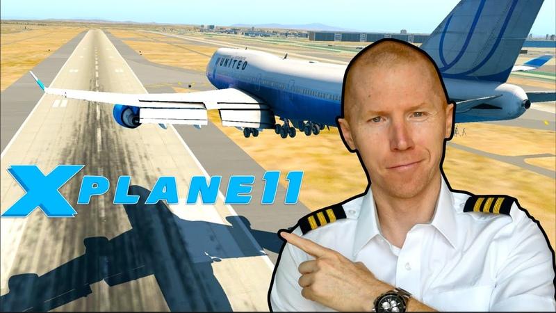 Real 747 Pilot Plays Xplane 11 Flight Simulator