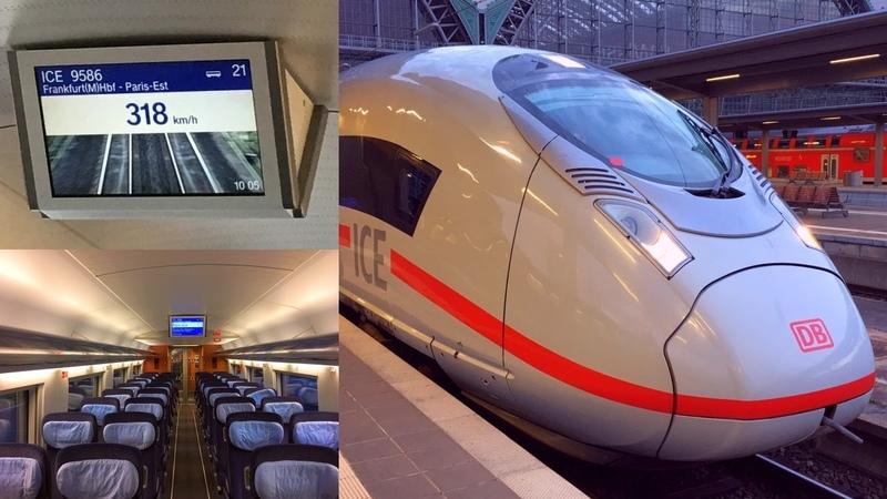 Frankfurt Paris aboard a 320km h fast ICE High Speed Train