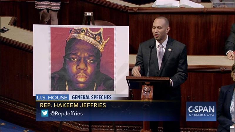 Rep. Jeffries tribute to rapper Biggie Smalls - Notorious B.I.G. (C-SPAN)