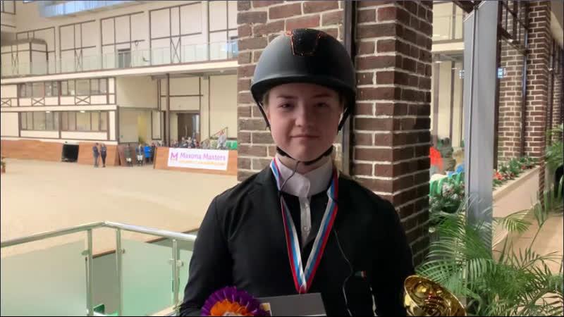 Анастасия Маслова победитель в маршруте №1 в зачете для любителей 90 см