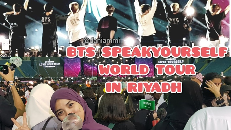 SPEAKYOURSELF IN RIYADH CONCERT EXPERIENCE 🇸🇦💜 SOUNDCHECK AND FANCAM