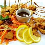 Ассорти жареной во фритюре рыбы и морепродуктов 340гр.