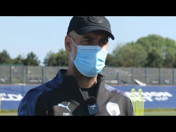 Первое интервью Гвардиолы после возобновления тренировок
