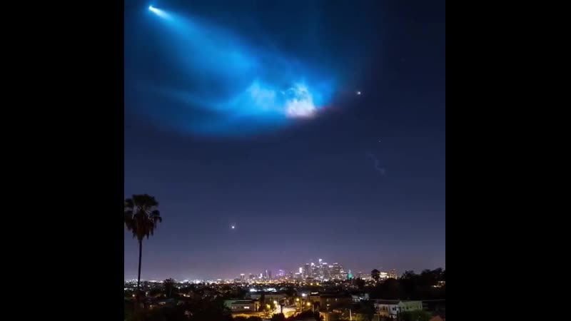 SpaceX lightening up the night sky