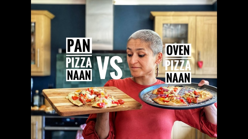 PIZZA NAAN PIZZA IN A PAN vs PIZZA IN THE OVEN Tandoori chicken pizza naan cookwithme withme