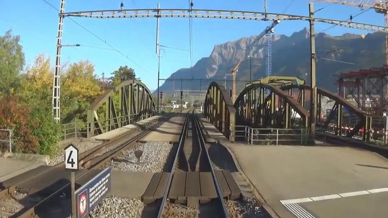 Швейцария из кабины машиниста Кур Цюрих HD