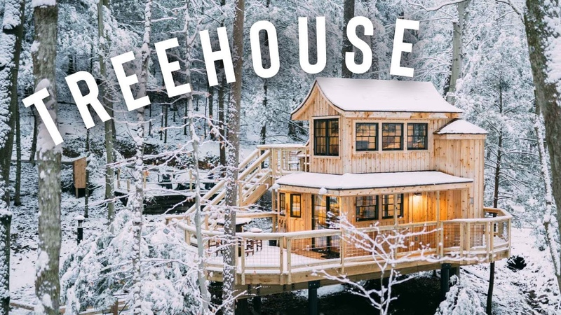 *SNOWY* TREEHOUSE CABIN FULL TOUR The Beech Treehouse