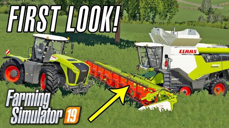 CLAAS DLC FIRST LOOK GAMEPLAY Farming Simulator 19 Early Access