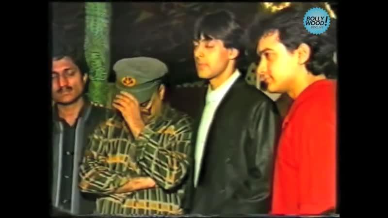 Аамир Кхан Салман Кхан на презентации фильма Andaz Apna Apna 1994