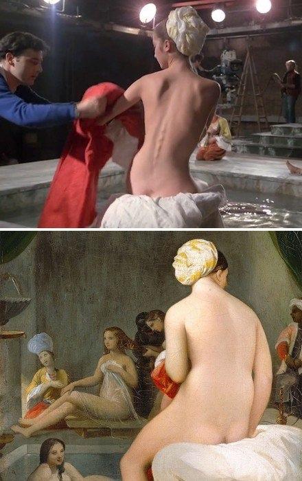 Сцены из кинофильмов, вдохновлённые картинами великих художников.