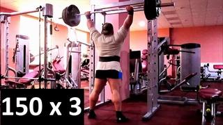 Жим стоя 150 кг на 3 раза - Ламонов Владимир. Жим стоя 150 кг на 3 раза. Жим стоя 150 кг