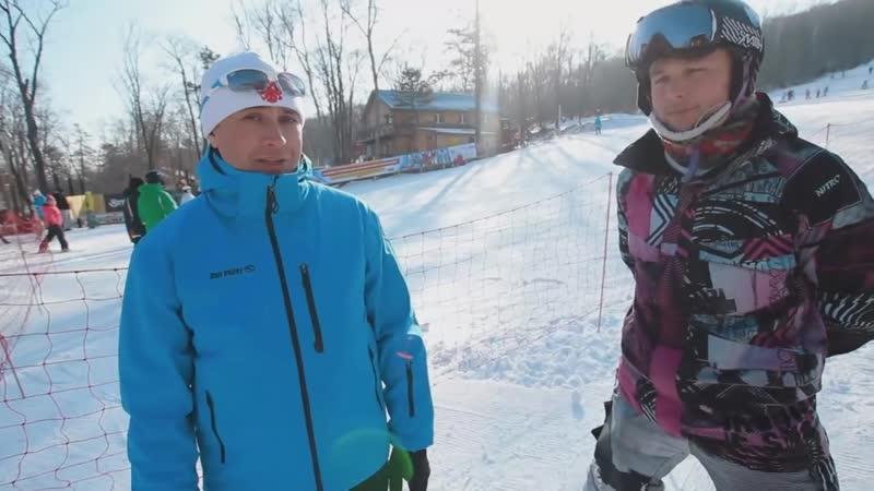 Горнолыжная школа Урок 6 Как пользоваться подъемником на лыжах и поворачивать в плуге