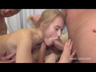 Russian Manhandle, Light Fairy 3on1 Balls Deep Anal, DP, Gapes, Rough Sex and Me