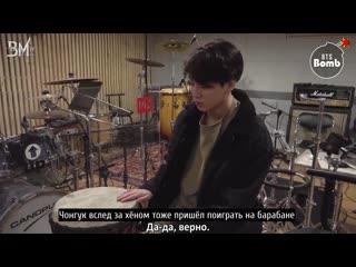 [rus sub][bangtan bomb] drummer boy v & jk bts