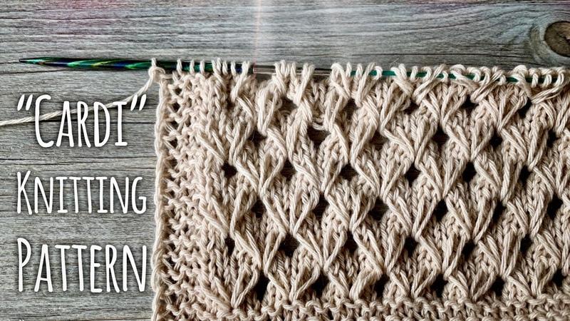 Идеально для КАРДИГАНА вяжем узор Cardi Beautiful Knitting Pattern For Cardigan