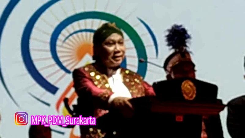 Pidato rektor UMS Prof DR Sofyan Anief Miliad UMS