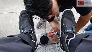 S3E2 Premium shoe shine tenies shoes #mexico /lust premium tenis #mx #ASMR #shoeshine