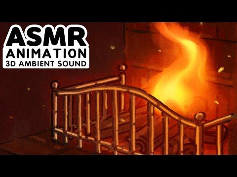 ASMR animation 그리핀도르 기숙사 입체음향 SOUND harrypotter Hogwarts Gryffindor Dormitory SMR 3D ambient sound