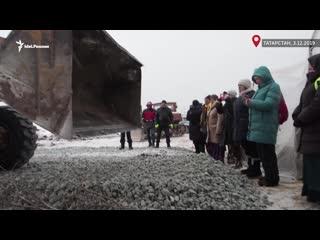 Протесты в Казани. Люди против трактора