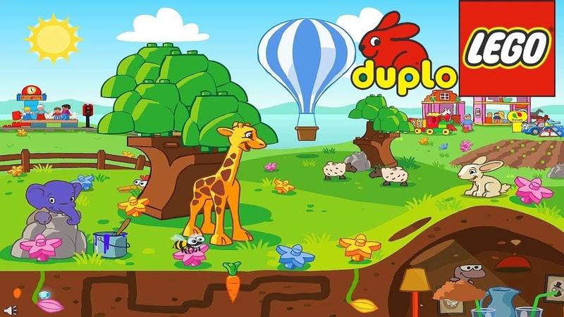 Мультфильм Жираф и Lego городок для малышей