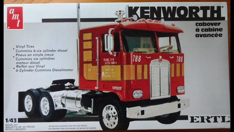 Седельный тягач Kenworth K 123 Cab Over Engine COE 1 43 AMT ERTL Matchbox Heller
